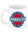 Henricus naam koffie mok beker 300 ml
