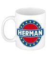 Herman naam koffie mok beker 300 ml