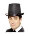 Hoge hoed zwart vilt voor heren