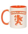 Holland oranje leeuw mok beker oranje wit 300 ml