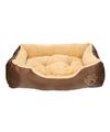 Honden of katten slaap mand kussen bruin beige 61 cm