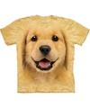 Honden t shirt golden retriever puppy voor kinderen