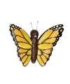 Houten magneet gele vlinder