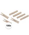 Houten wasknijpers 100 stuks