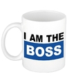 I am the boss mok beker blauw 300 ml