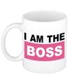 I am the boss mok beker roze 300 ml