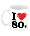 I love 80 s beker mok 300 ml