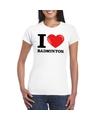 I love badminton t shirt wit dames