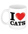 I love cats katten beker 300 ml