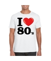 I love eighties t shirt wit heren