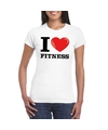 I love fitness t shirt wit dames