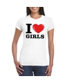 I love girls t shirt wit dames