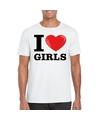 I love girls t shirt wit heren