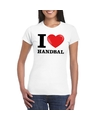 I love handbal t shirt wit dames