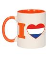 I love holland mok beker oranje wit 300 ml
