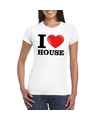 I love house t shirt wit dames