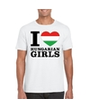 I love hungarian girls t shirt wit heren