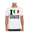 I love italian girls t shirt wit heren