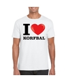 I love korfbal t shirt wit heren