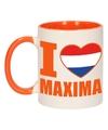 I love maxima mok beker oranje wit 300 ml