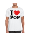 I love pop t shirt wit heren