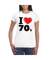 I love seventies t shirt wit dames