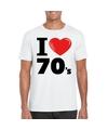 I love seventies t shirt wit heren