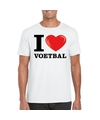 I love voetbal t shirt wit heren