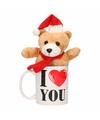 I love you mok met kerst knuffelbeertje