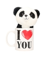 I love you mok met knuffel panda