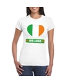 Ierland hart vlag t shirt wit dames