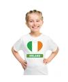 Ierland hart vlag t shirt wit jongens en meisjes