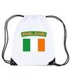 Ierland nylon rugzak wit met ierse vlag