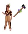 Indianen kostuum maat l met tomahawk voor kinderen