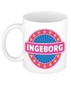 Ingeborg naam koffie mok beker 300 ml