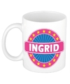 Ingrid naam koffie mok beker 300 ml