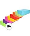 Inpakpapier pakket felle kleurtjes 10 rollen 70 x 200 cm