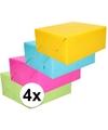 Inpakpapier pakket felle kleurtjes 4 rollen 70 x 200 cm