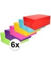Inpakpapier pakket felle kleurtjes 6 rollen 70 x 200 cm