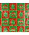 Inpakpapier rood groen 70 x 200 cm type 1