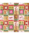Inpakpapier rood groen goud 70 x 200 cm type 6