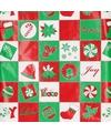 Inpakpapier rood groen wit 70 x 200 cm type 4