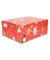 Inpakpapier verjaardag dieren rood 70 x 200 cm