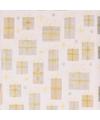 Inpakpapier wit en goud 70 x 200 cm type 5