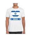 Israel hart vlag t shirt wit heren