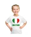 Italie hart vlag t shirt wit jongens en meisjes