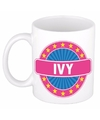 Ivy naam koffie mok beker 300 ml