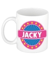 Jacky naam koffie mok beker 300 ml