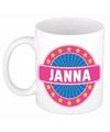 Janna naam koffie mok beker 300 ml