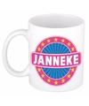 Janneke naam koffie mok beker 300 ml